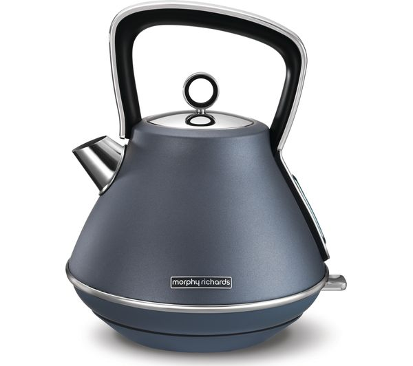 MORPHY RICHARDS Evoke Pyramid Traditional Kettle - Steel Blue, Blue