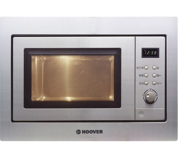 HOOVER HMG201X Built-in Compact Microwave with Grill - Stainless Steel, Stainless Steel
