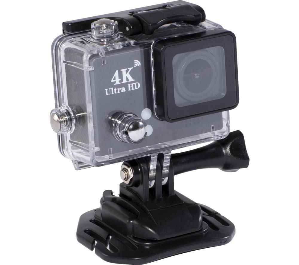 DAEWOO AVS1360 4K Ultra HD Action Camera - Black, Black