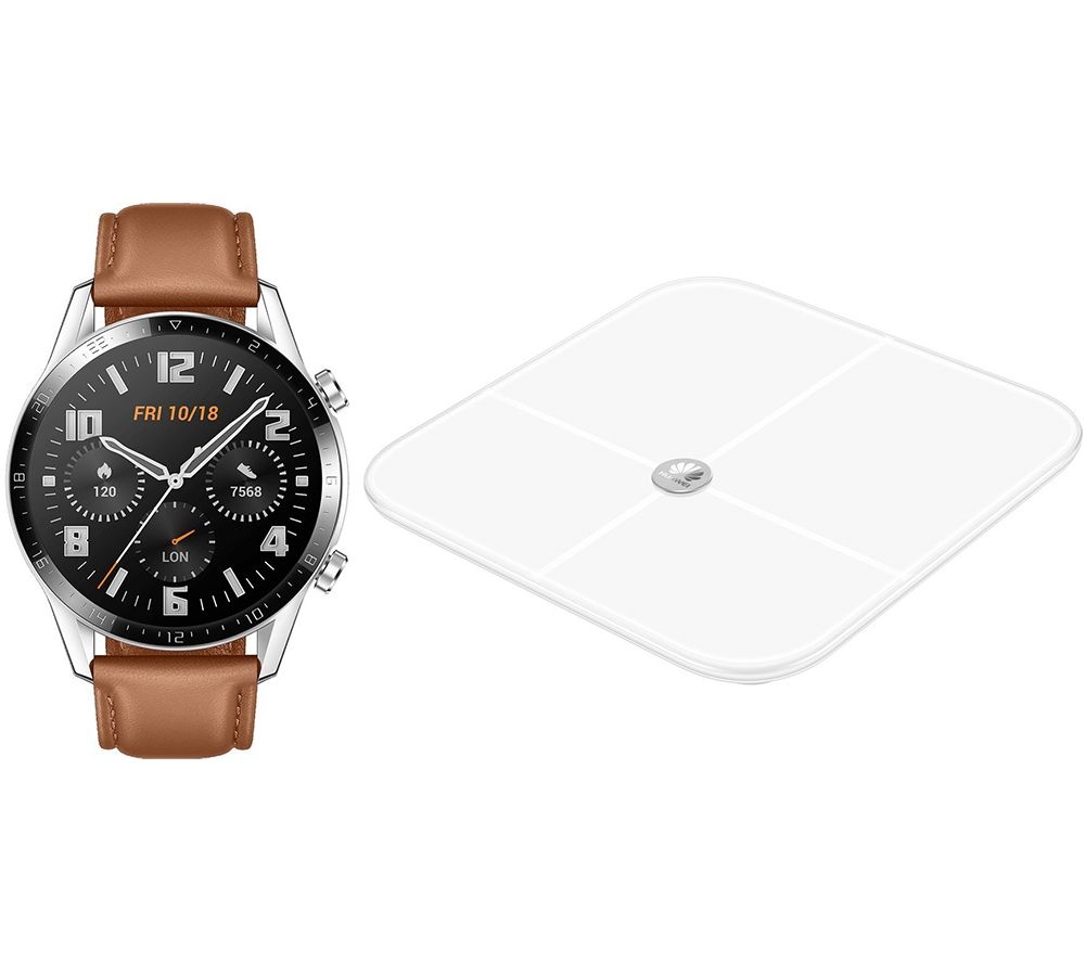 Watch GT 2 Classic - 46 mm, Pebble Brown, Brown