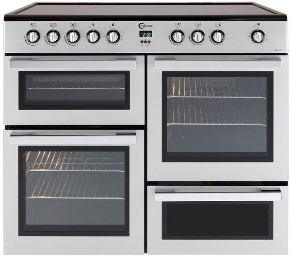 FLAVEL MLN10CRS Electric Ceramic Range Cooker - Silver & Chrome, Silver