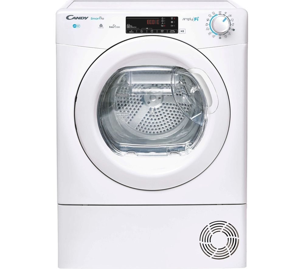 CANDY CSO H9A2TE WiFi-enabled 9 kg Heat Pump Tumble Dryer - White, White