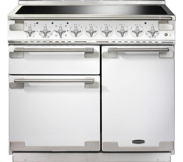 Rangemaster Elise 100 Induction Range Cooker - White & Chrome, White