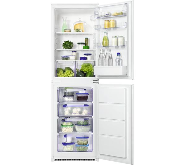 ZANUSSI ZBB27450SV Integrated 50/50 Fridge Freezer, Transparent