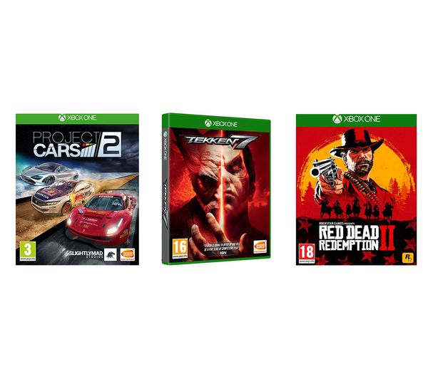 XBOX ONE Red Dead Redemption 2, Tekken 7 & Project Cars 2 Bundle, Red
