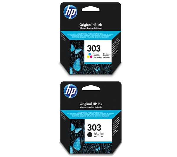 HP 303 Combo Tri-colour & Black Ink Cartridges, Black