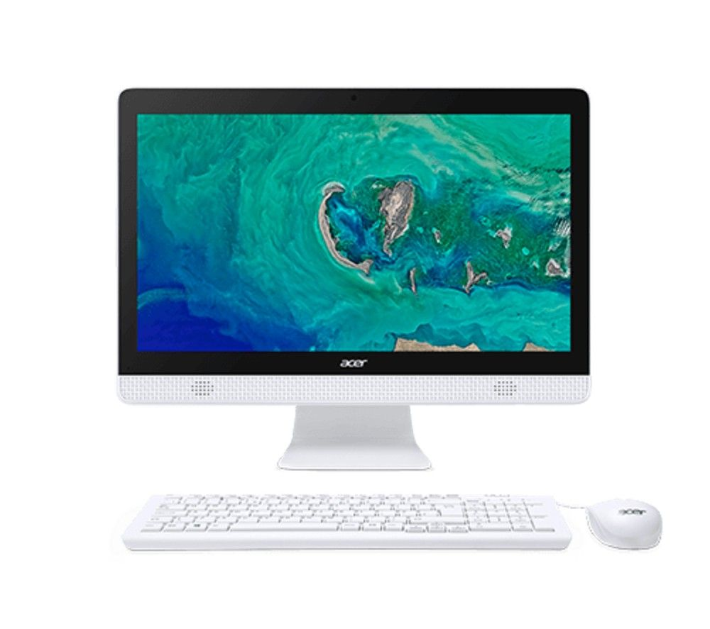 "ACER Aspire C20-830 19.5"" All-in-One PC - Intel®Celeron, 1 TB HDD, White, White"