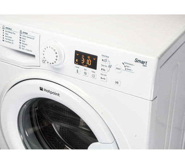 HOTPOINT Smart WMFUG842P Washing Machine - White, White