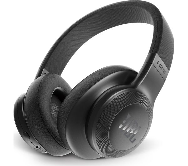 JBL E55BT Wireless Bluetooth Headphones - Black, Black
