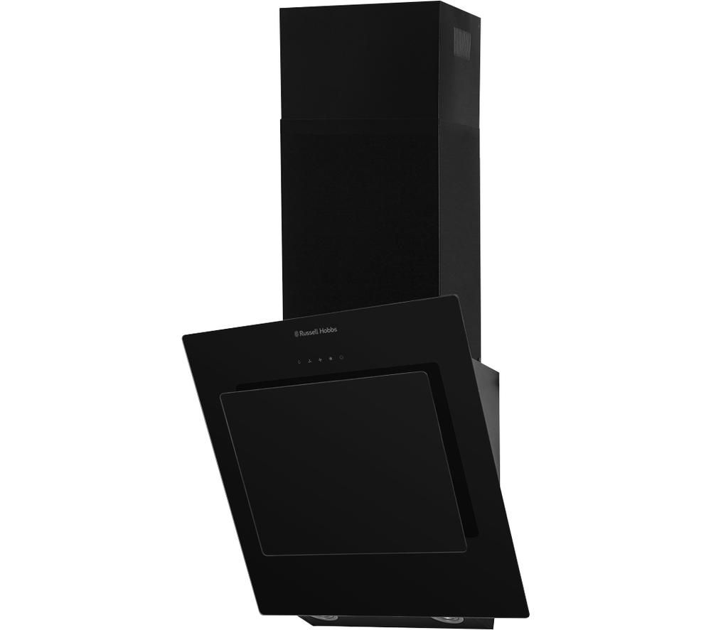 RUSSELL HOBBS RHGCH702B Chimney Cooker Hood - Black Glass, Black