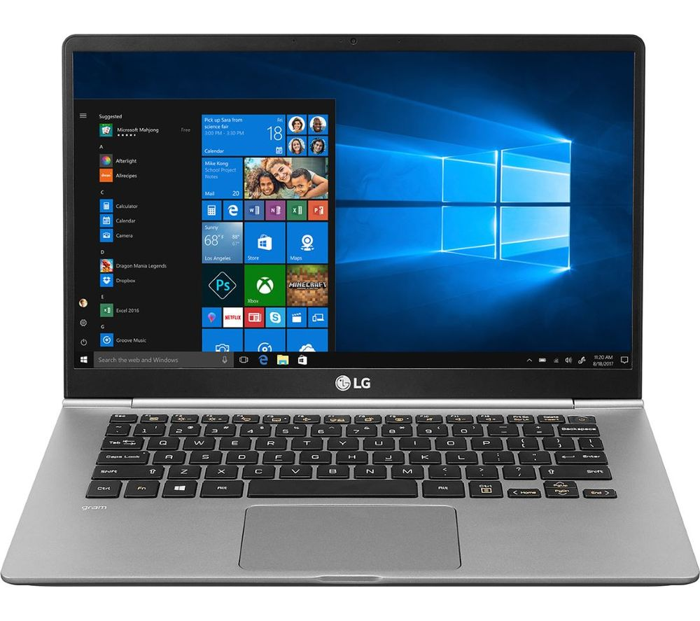 "LG GRAM 14Z990 14"" Intel® Core™ i5 Laptop - 256 GB SSD, Silver, Silver"