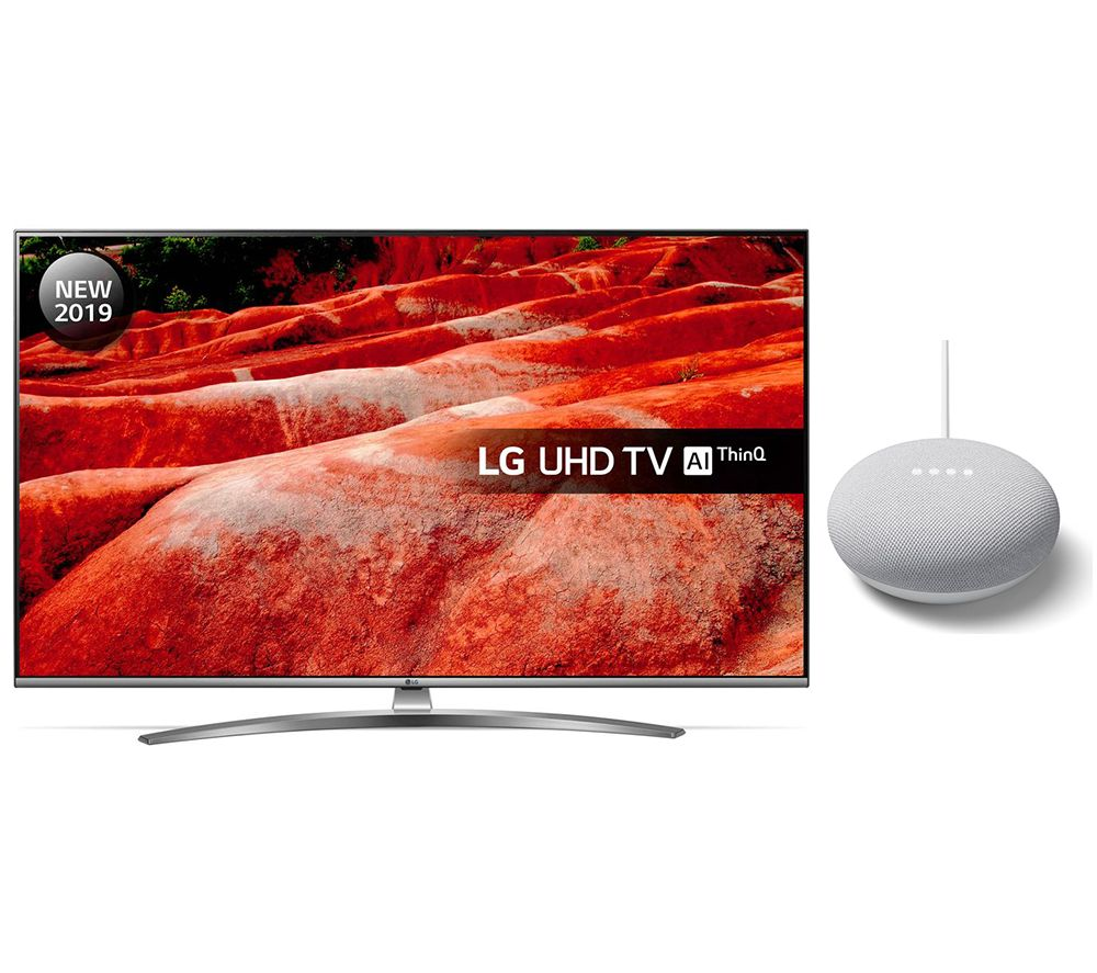 "LG 43UM7600PLB 43"" Smart 4K Ultra HD HDR LED TV with Google Assistant & Nest Mini Bundle"