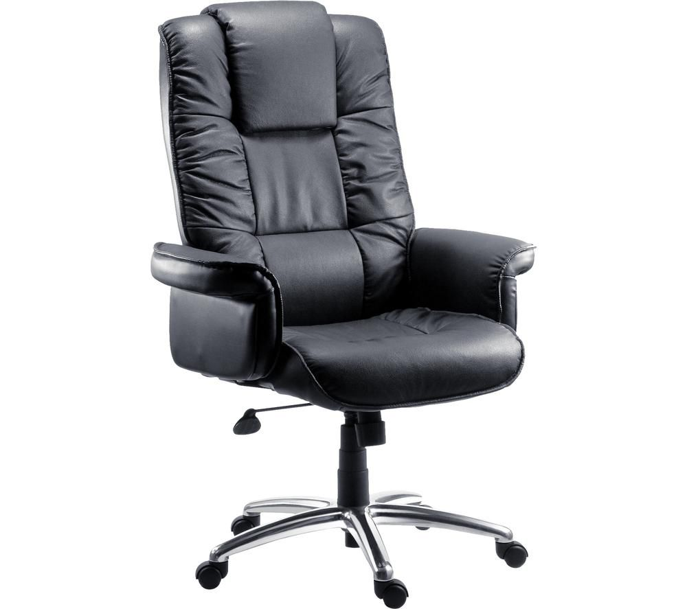 TEKNIK Lombard Bonded Leather Tilting Executive Chair - Black, Black