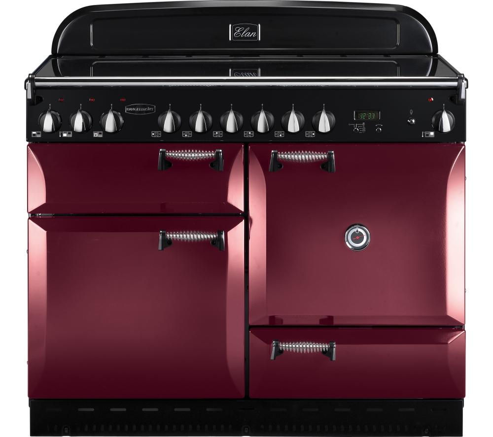 RANGEMASTER Elan 110 Electric Range Cooker - Cranberry & Chrome, Cranberry