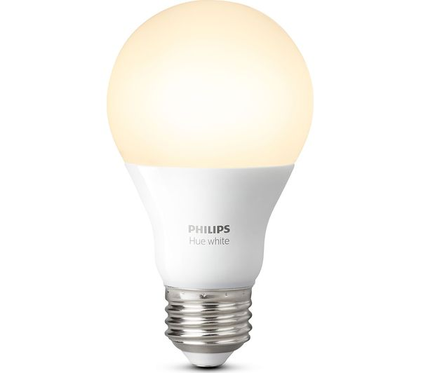 PHILIPS Hue White Wireless Bulb - E27, White