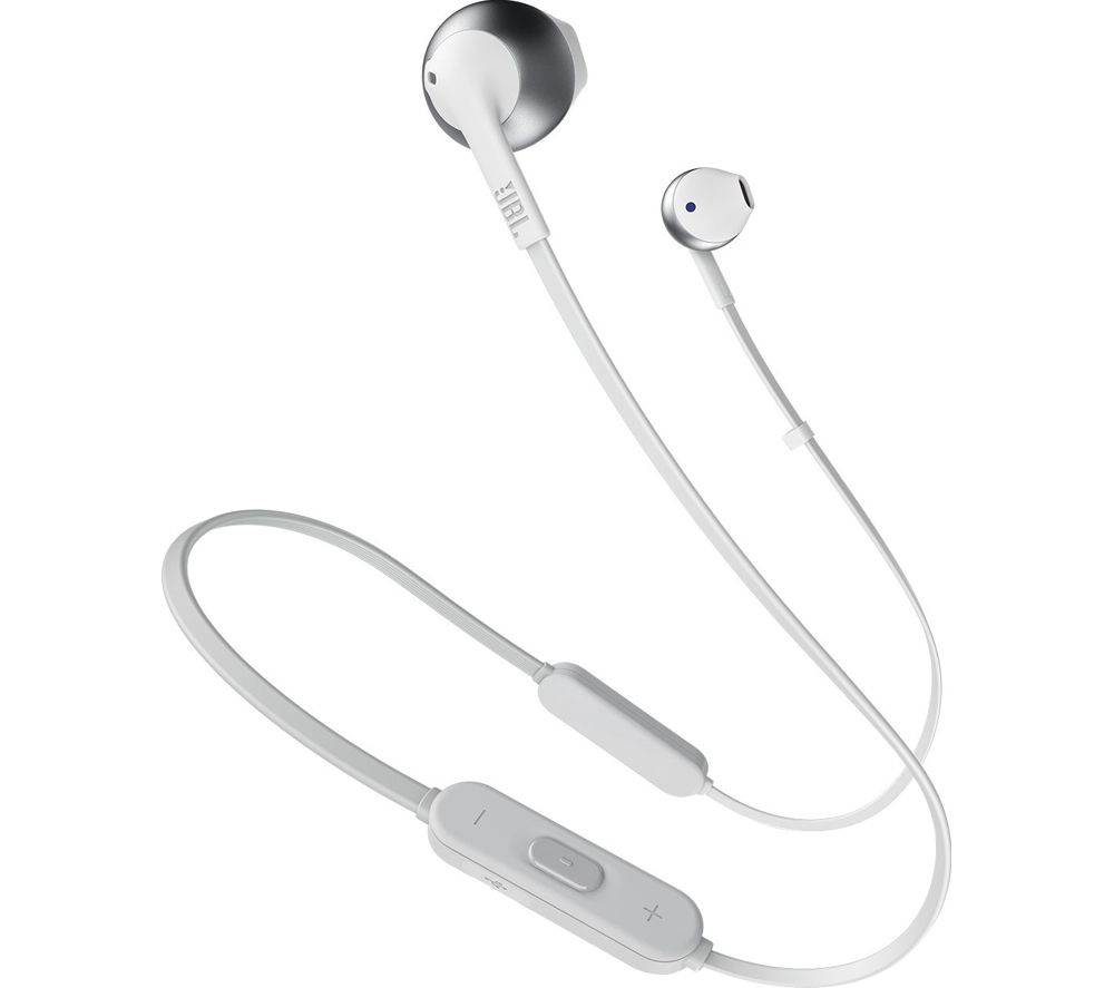 JBL TUNE 205BT JBLT205BTSIL Wireless Bluetooth Earphones - Silver, Silver