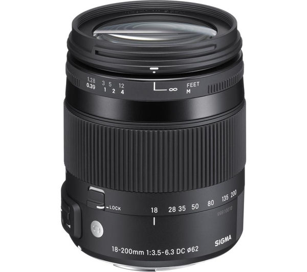 SIGMA 18-200 mm f/3.5-6.3 DC Macro OS HSM C Telephoto Zoom Lens - for Canon