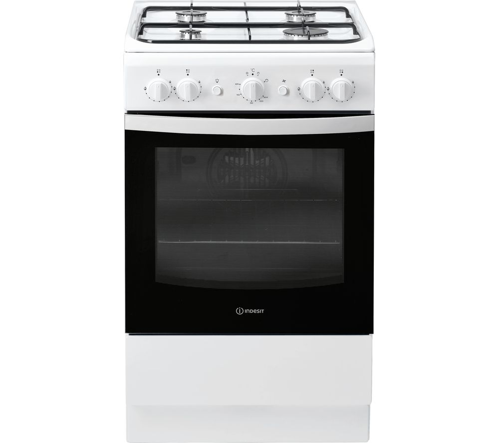 INDESIT IS5G1KMW/U 50 cm Gas Cooker – White, White