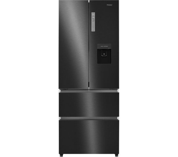 HAIER Slim American Style Fridge Freezer HB16WSNAA- Black Stainless Steel, Stainless Steel