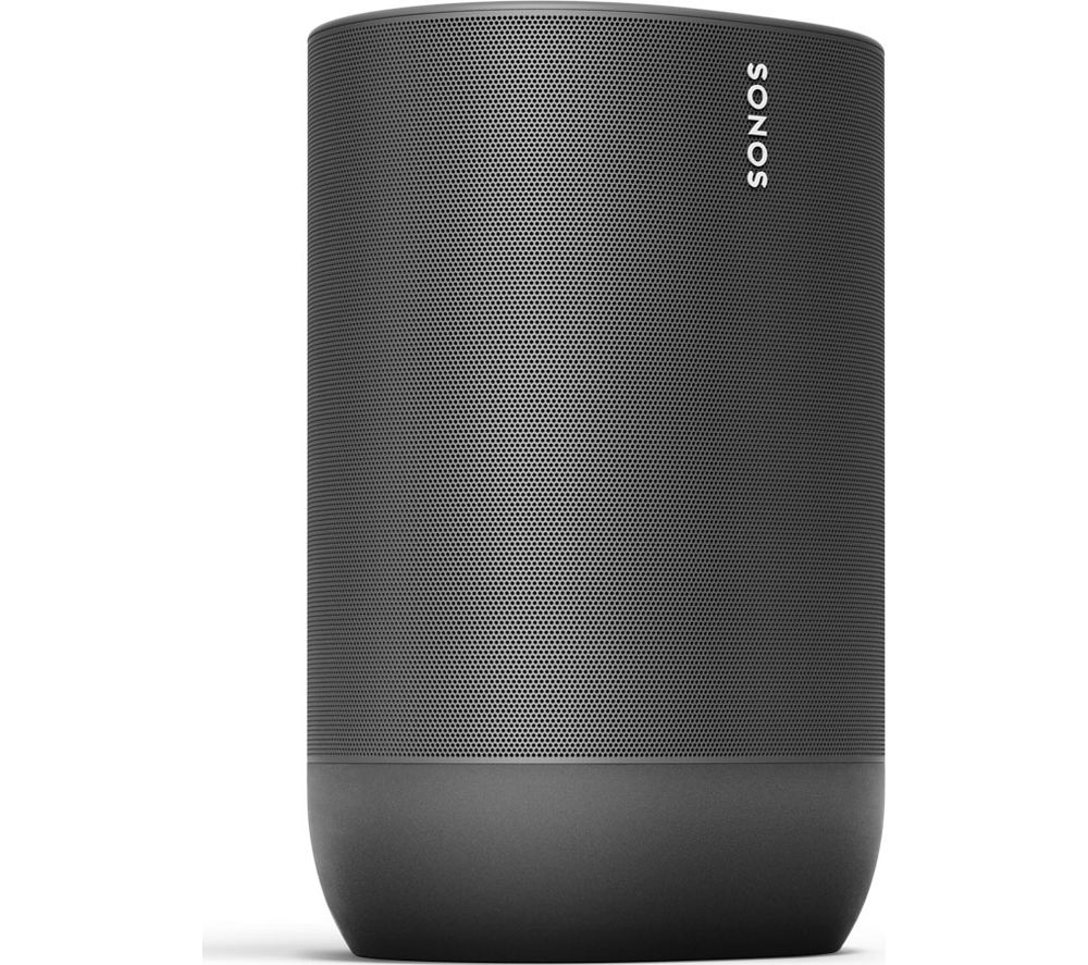 SONOS Move Portable Wireless Multi-room Speaker with Google Assistant & Amazon Alexa - Black, Black