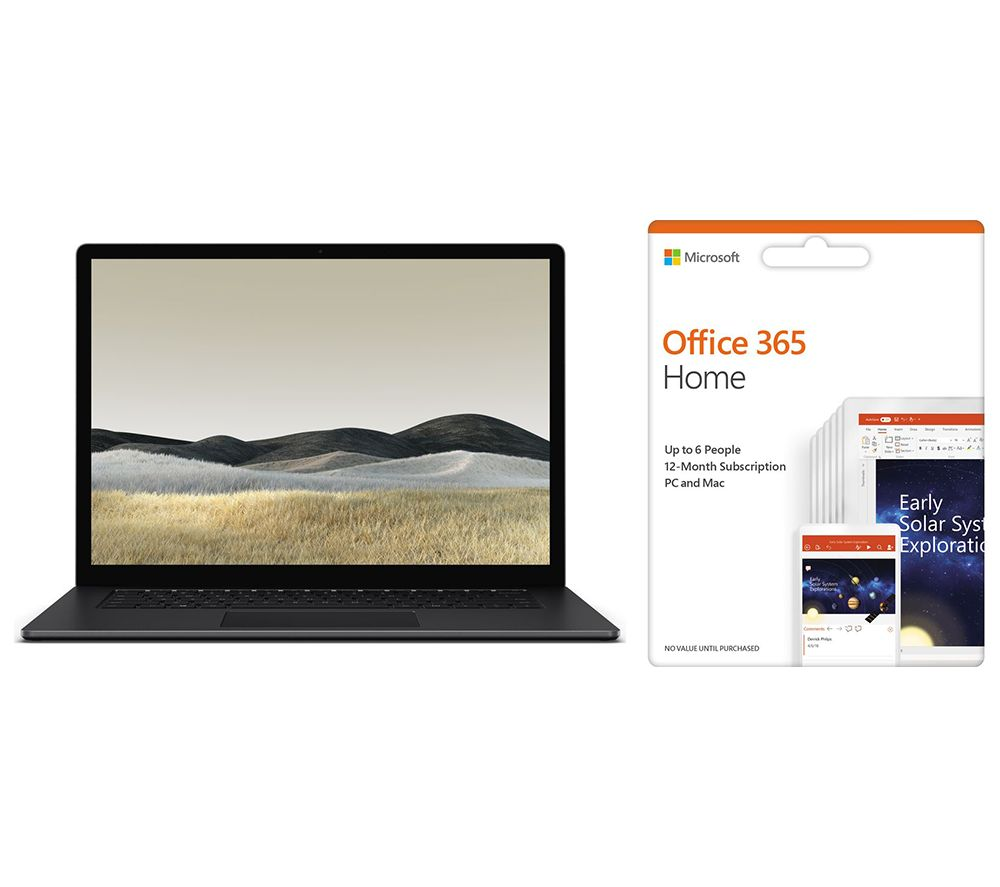 "MICROSOFT Surface 3 15"" AMD Ryzen 5 Laptop & Office 365 Home Bundle - 1 year for 6 users"