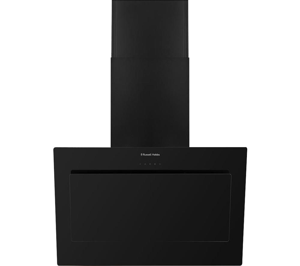 RUSSELL HOBBS RHGCH902B Chimney Cooker Hood - Black Glass, Black