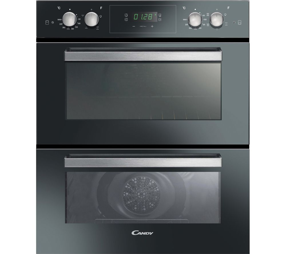 CANDY FC7D415NX Electric Double Oven - Black, Black