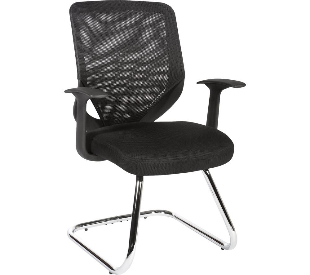 TEKNIK Nova Mesh Fabric Visitor Chair - Black, Black