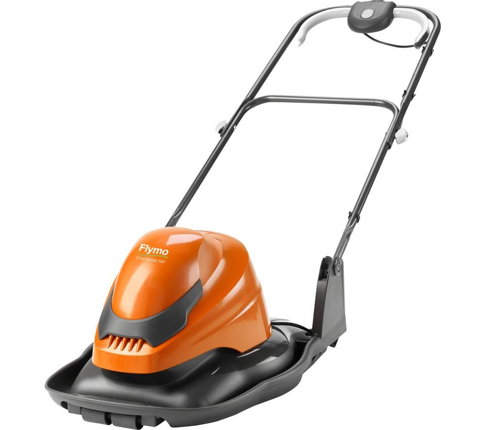 FLYMO SimpliGlide 360 Corded Hover Lawn Mower - Orange, Orange