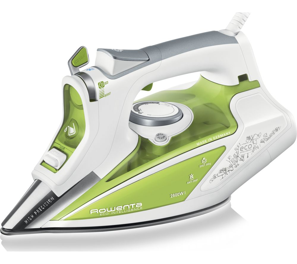 ROWENTA Rowenta Eco Intel®igence DW9210 Steam Iron - White & Green, White