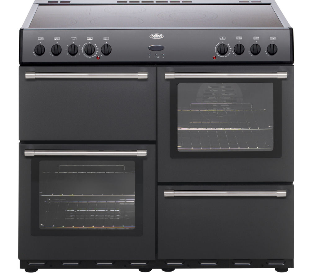 BELLING Country Classic 100 Electric Ceramic Range Cooker - Anthracite, Anthracite