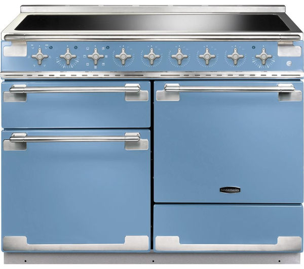 Rangemaster Elise 110 Electric Induction Range Cooker - China Blue & Chrome, Blue