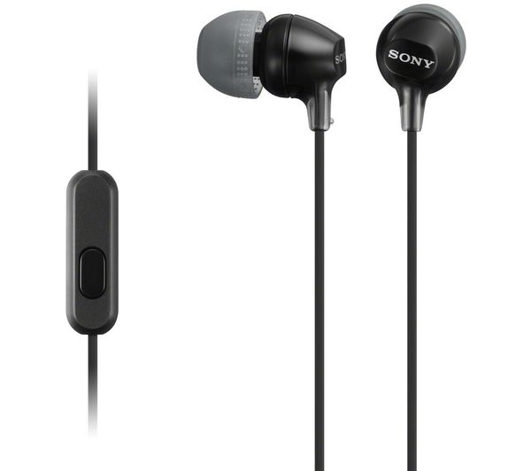 SONY EX15APB Headphones - Black, Black
