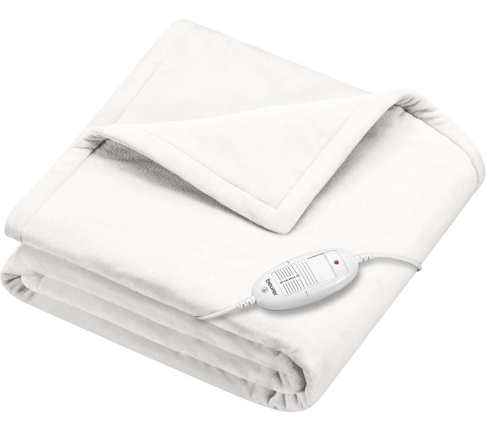 BEURER Cosy HD 75 Heating Blanket - White, White