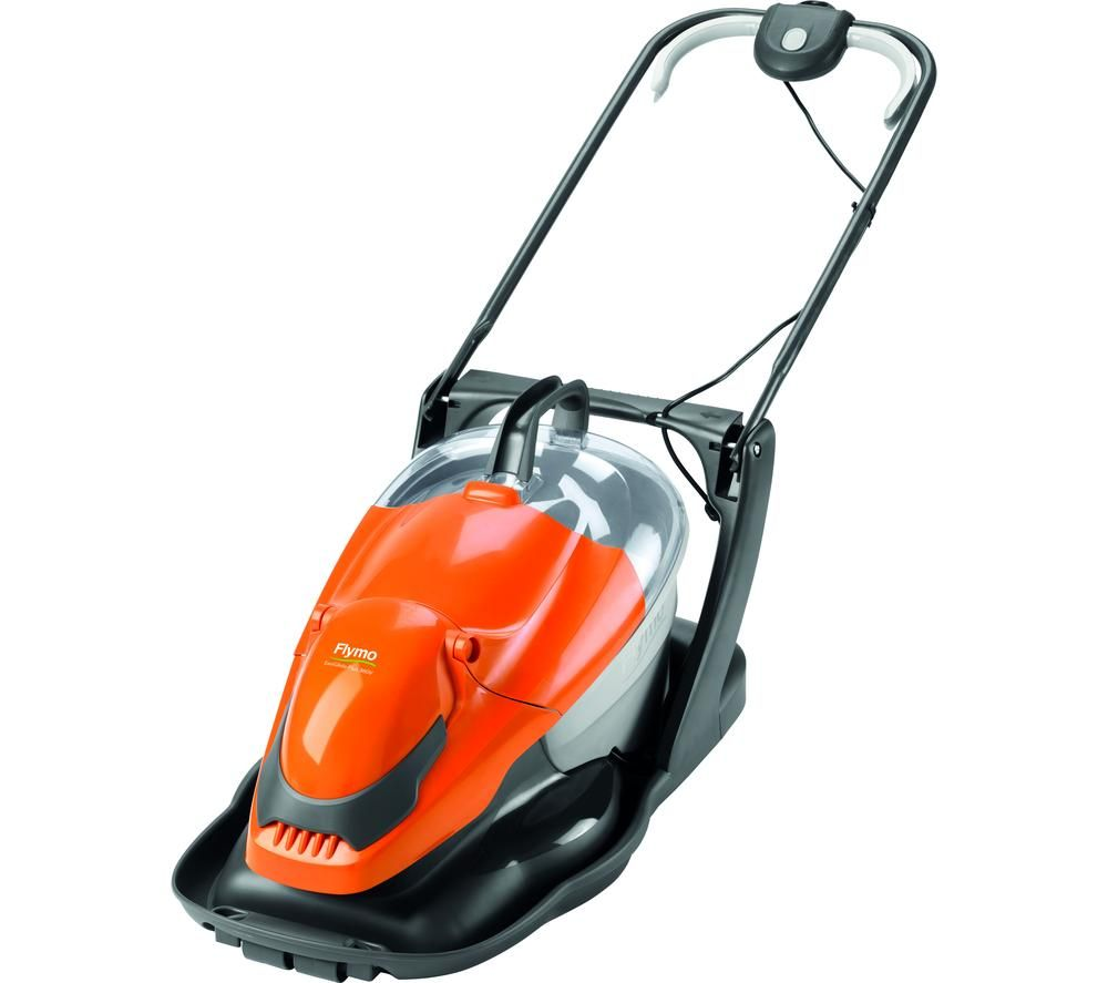 FLYMO Easi Glide Plus 300V Corded Hover Lawn Mower - Orange & Grey, Orange