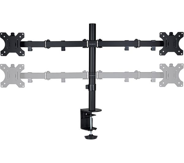 "PROPER P-DMBLDT07B-1 Dual Arm Full Motion 19-32"" Monitor Desk Mount"
