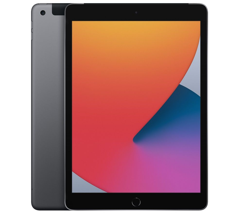 "APPLE 10.2"" iPad Cellular (2020) - 128 GB, Space Grey, Grey"