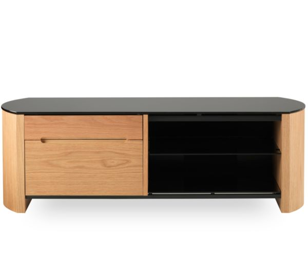 ALPHASON Finewoods 1100 TV Stand - Light Oak, Black