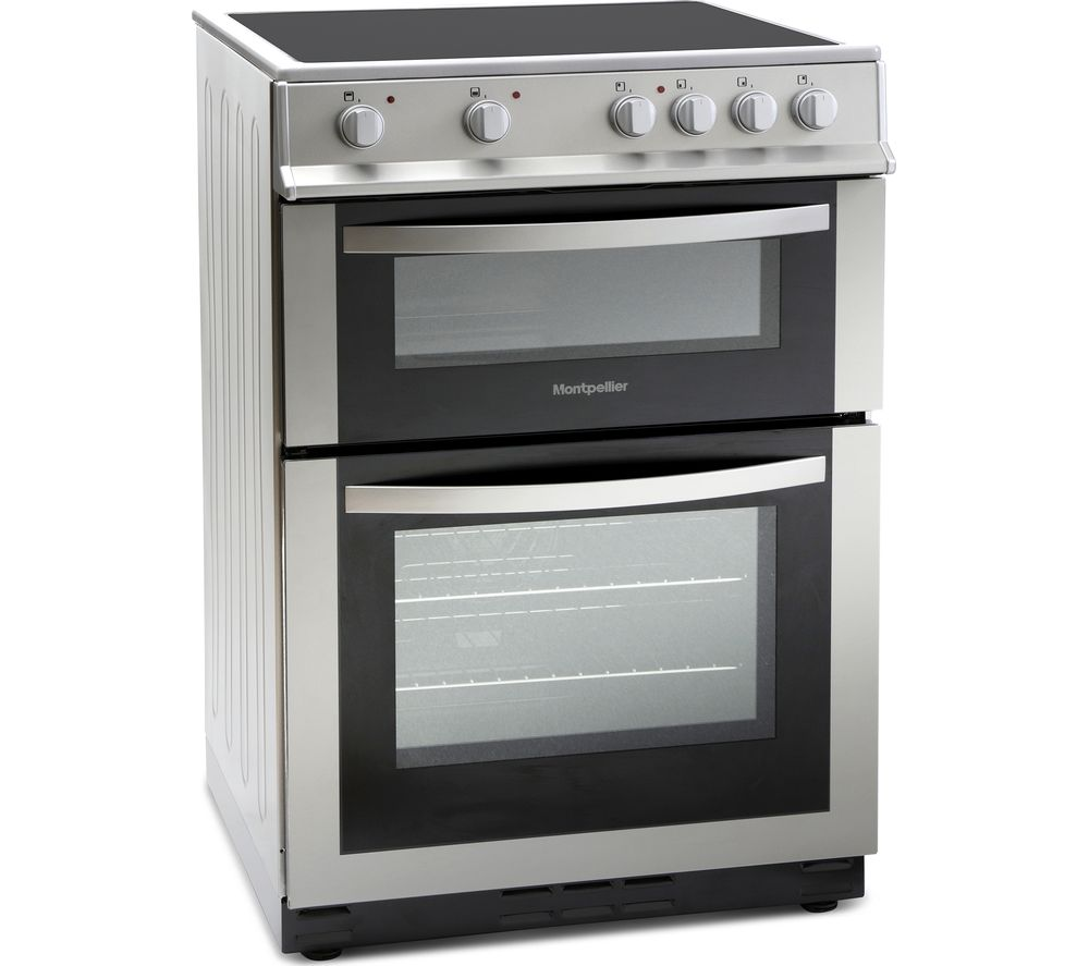 MONTPELLIER MDC600FS 60 cm Electric Ceramic Cooker - Silver, Silver