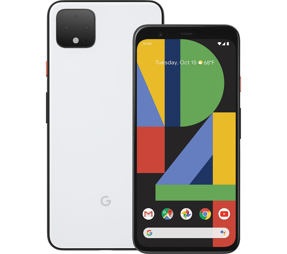 GOOGLE Pixel 4 XL - 128 GB, Clearly White, White