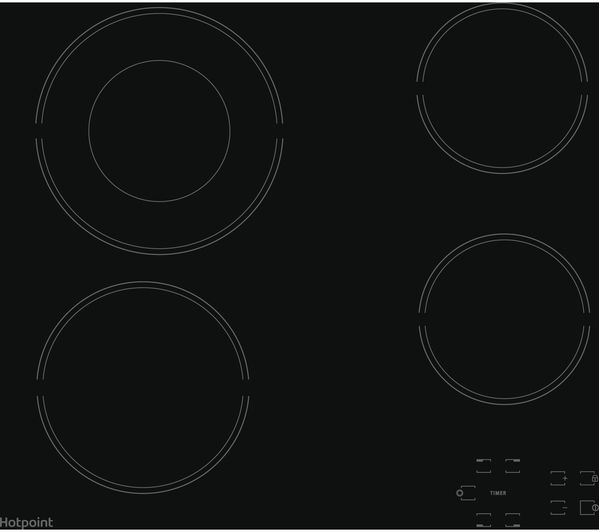 HOTPOINT HR 612 C H Electric Ceramic Hob - Black, Black