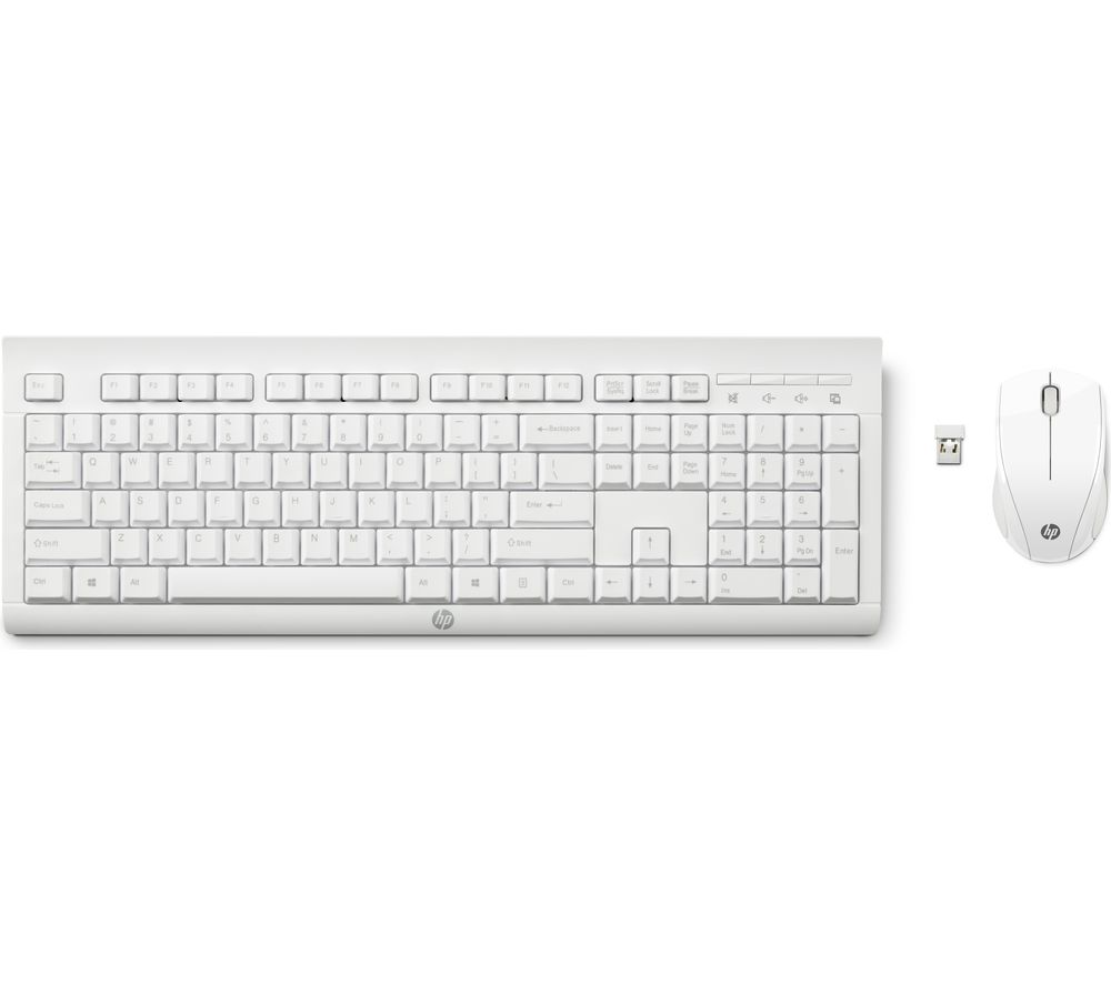 C2710 Wireless Keyboard & Mouse Set - White, White