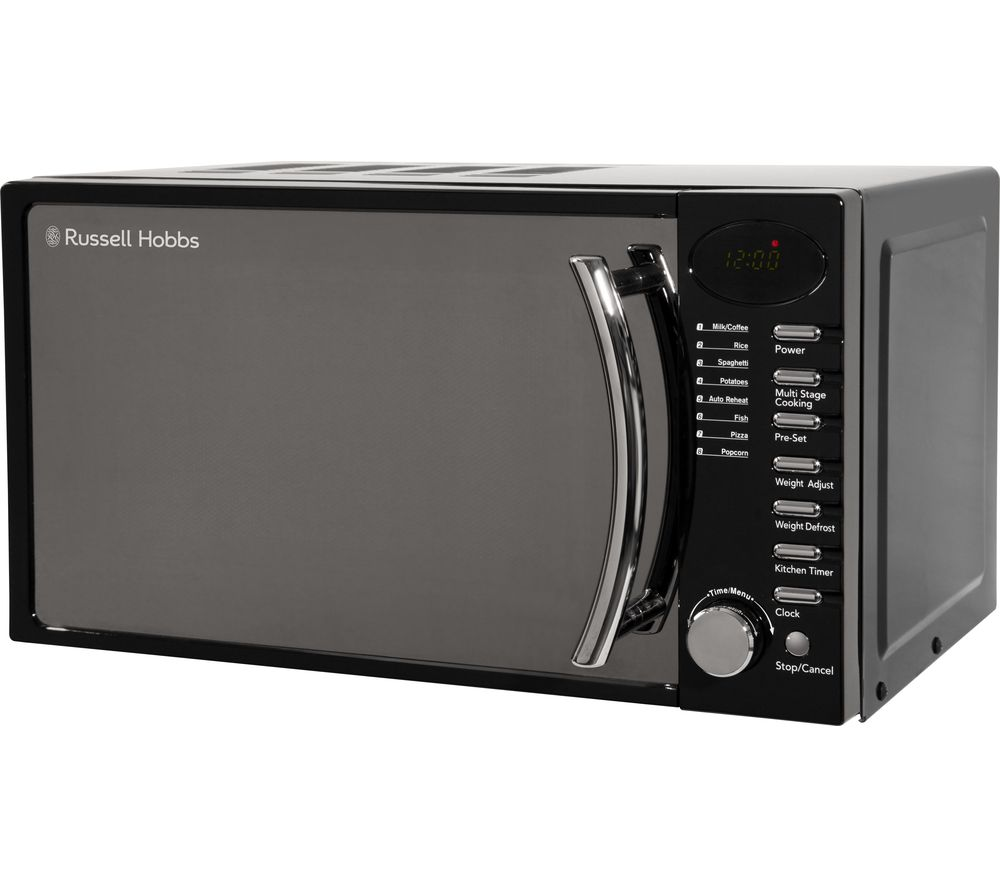 RUSSELL HOBBS RHM1714BC Compact Solo Microwave - Black, Black