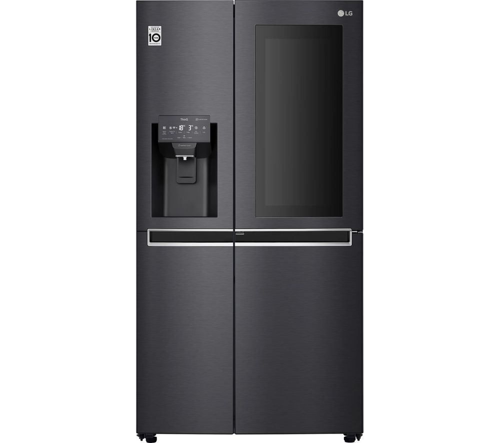 LG GSX961MCCZ American-Style Smart Fridge Freezer - Black, Black