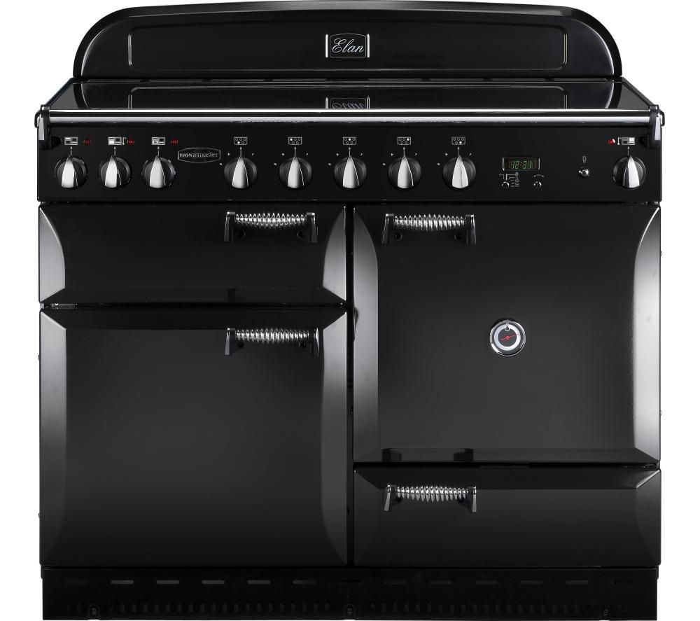 RANGEMASTER Elan 110 Electric Induction Range Cooker - Black, Black