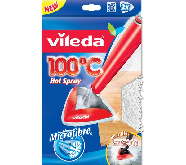 VILEDA 100?C Hot Spray and Steam Microfibre Refill Pads