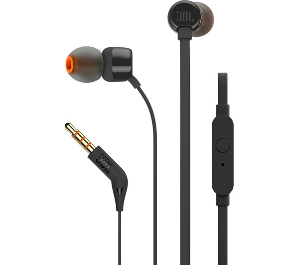 JBL T110 Headphones - Black, Black