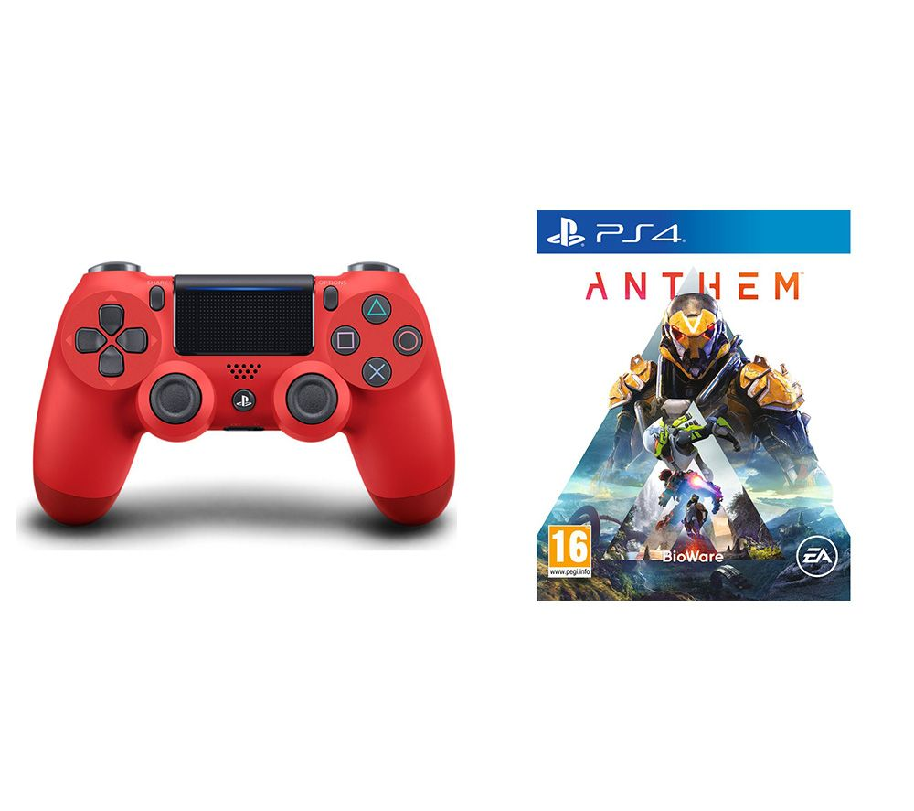 SONY Anthem & DualShock 4 V2 Wireless Controller Bundle - Magma Red, Red