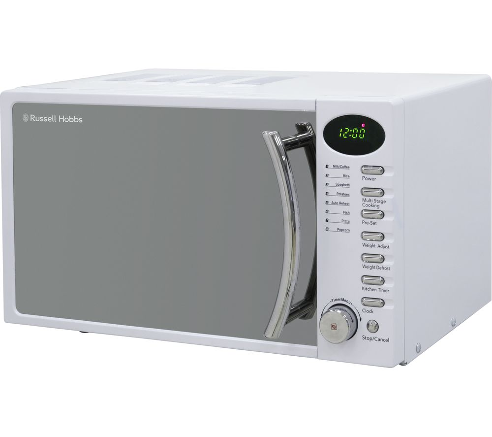 RUSSELL HOBBS RHM1714WC Compact Solo Microwave - White, White