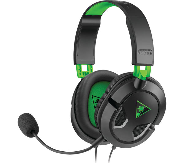 TURTLE BEACH Ear Force Recon 50X 2.0 Gaming Headset - Black & Green, Black
